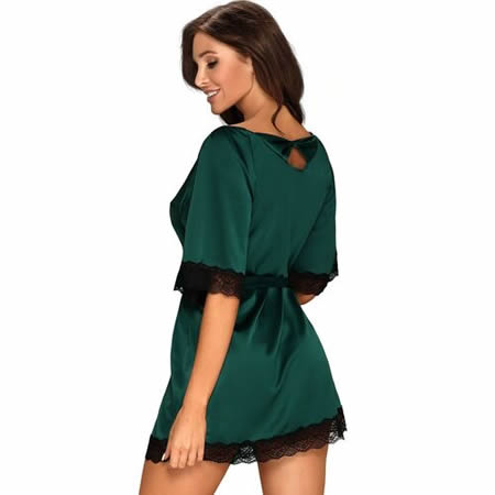 bata sensuelia verde encaje negro obsessive