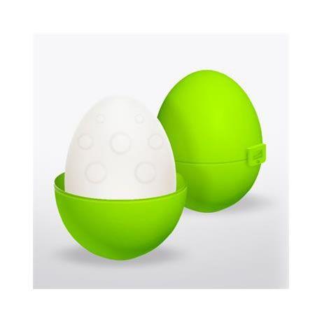 huevo masturbador elastico silicona verde bumpy