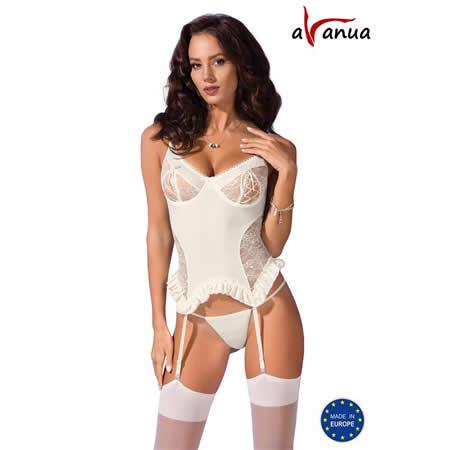 corset bianca ecru blanco avanue