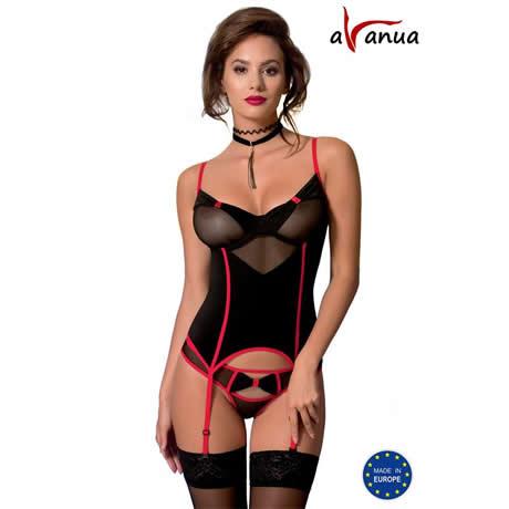 corset negro valentin avanua