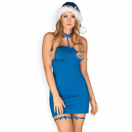 disfraz de mama noel azul kissmas obsessive