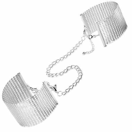 esposas metalizadas plateadas tipo joya desir metallique