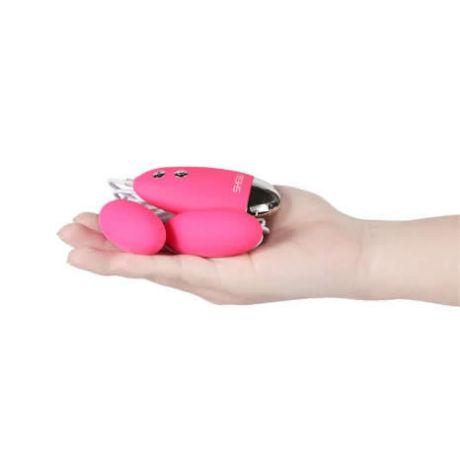 huevo vibrador control remoto doble silicona shequ