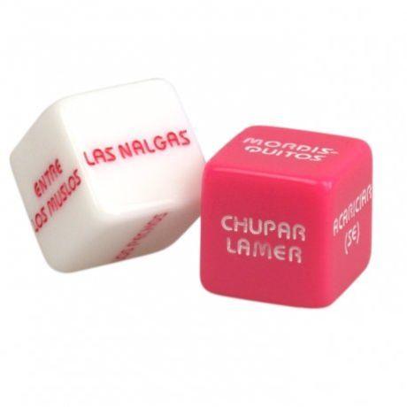 juego de dados eroticos rosa y blanco