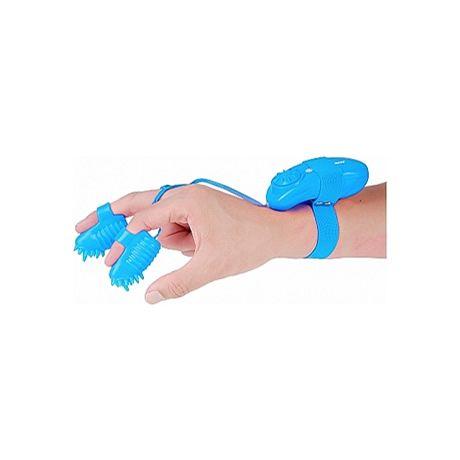 mini vibradores para dedos azul neon