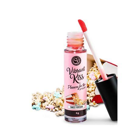 lip gloss beso vibrante sabor palomitas dulces