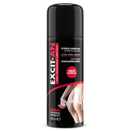 lubricante anal base agua y silicona efecto frescor excit an 75 ml