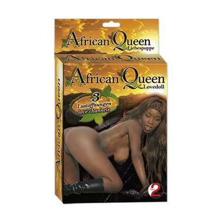 muñeca hinchable amada reina africana