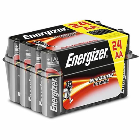 pack 24 pilas alcalinas aa lr6 energizer