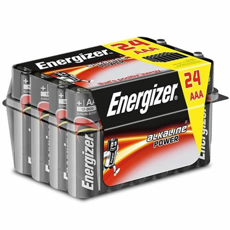 pack 24 pilas alcalinas aaa lr03 energizer