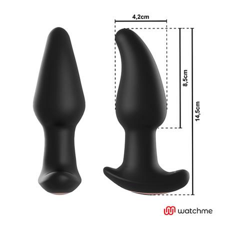 plug anal con rotacion de perlas vibrador negro amadeus
