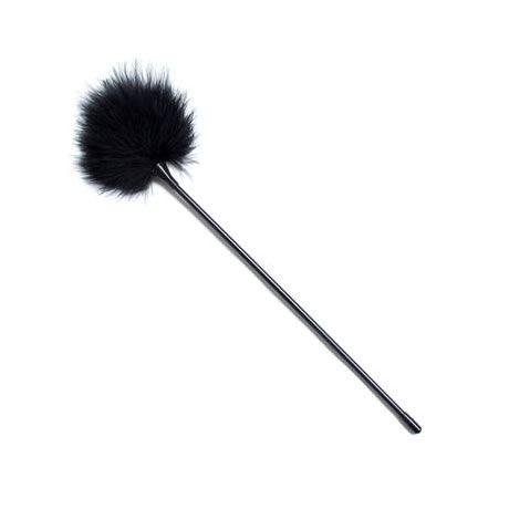 plumas estimuladoras 40 cm negro