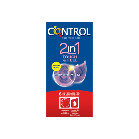 preservativos control 2 in 1 touch feel lube 6 uds