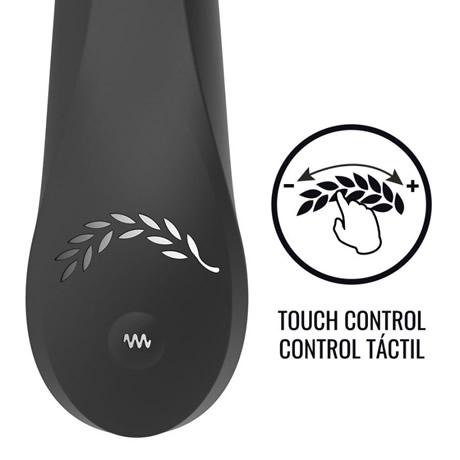 vibrador conejito rampante negro con control touch blacksilver