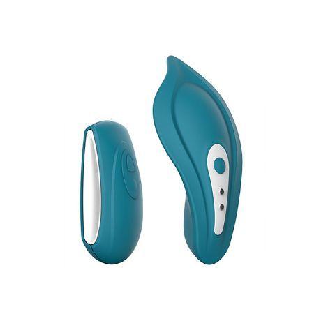 vibrador recargable control remoto para braguita azul
