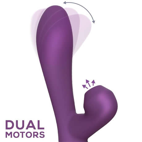 vibrador y succionador oscilantefinger usb magnetico silicona purpura