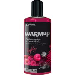 aceite de masaje efecto calor frambuesa