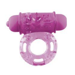 anillo vibrador de color lila