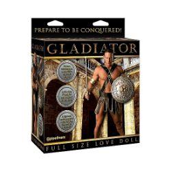 muñeco hinchable gladiador tamaño real de la tematica muñeca hinchable