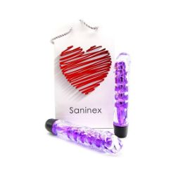 SANINEX VIBRATOR FANTASTIC REALITY METALLIC PURPLE COLOR