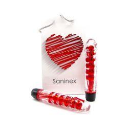 SANINEX VIBRATOR FANTASTIC REALITY METALLIC RED COLOR