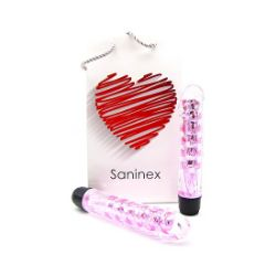 SANINEX VIBRATOR FANTASTIC REALITY METALLIC PINK COLOR