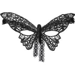 antifaz mariposa negro