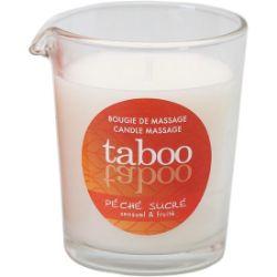 vela de masaje para ella peche sucre aroma nectarina taboo