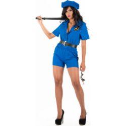 disfraz policia olaya azul erotico
