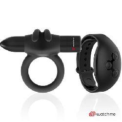 anillo vibrador control remoto watchme negro agron