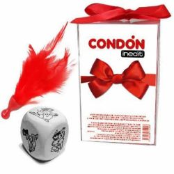 caja de regalos dado condon y pluma