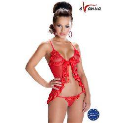 conjunto rojo sexy avanua