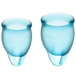 copa menstrual azul satisfyer feel confident
