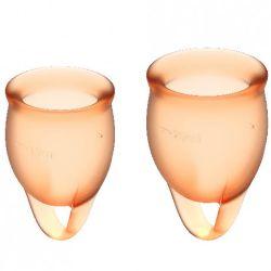 copa menstrual naranja feel confident pack 2