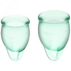 copa menstrual verde feel confident