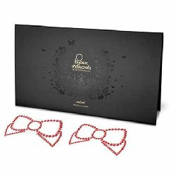 cubre pezones con lazos rojos mimi bow bijoux