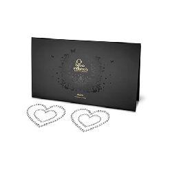 cubre pezones corazones de plata mimi bow bijoux