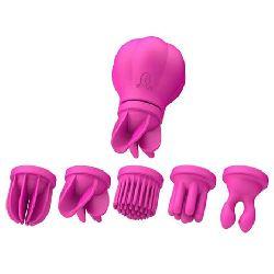 estimulador rotador caress 53 cm rosa varios cabezales