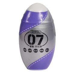 huevo masturbador estria 7 color purpura marca shequ