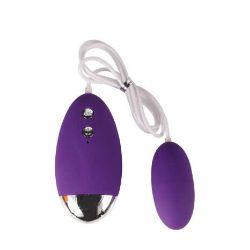 huevo vibrador barato de silicona color morado yesi