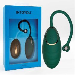 huevo vibrador con control remoto verde botella anda