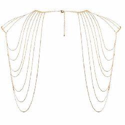 joyas de cadenas doradas para hombros y espalda magnifique