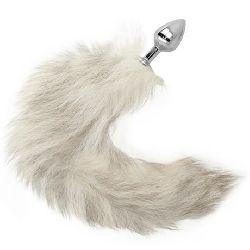 plug anal 7cm con cola blanca 40 cm