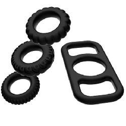 set de 4 anillos para el pene addicted toys