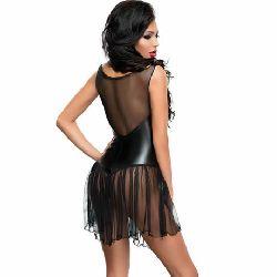 vestido con transparencia en pecho xymena meseduce