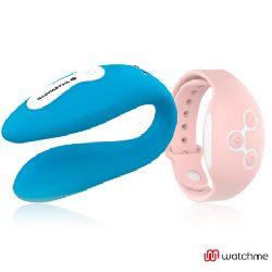 vibrador para pareja doble azul y rosa