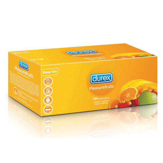 preservativos durex pleasurefruits 144 uds